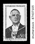 france   circa 1970  a stamp... | Shutterstock . vector #87437105