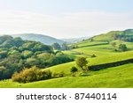 rolling countryside around a... | Shutterstock . vector #87440114