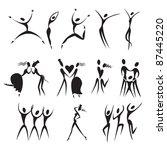 set silhouette  vector... | Shutterstock .eps vector #87445220