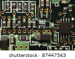 detail of a circuit board - stock photo