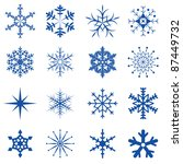 blue snowflakes part i | Shutterstock .eps vector #87449732