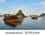 Tourist Junks In Halong Bay ...