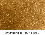 abstract background with decorative golden metal loops - stock photo