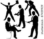 solicitor   black business... | Shutterstock . vector #87459929