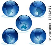 blue glass earth collection | Shutterstock . vector #87463451