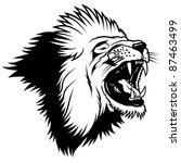 lion head   hand drawn... | Shutterstock . vector #87463499