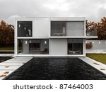 very modern house visualization ... | Shutterstock . vector #87464003
