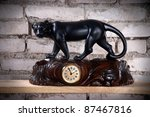 Vintage Wooden Carved Clock...