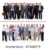 young attractive business... | Shutterstock . vector #87468575