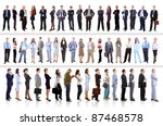young attractive business... | Shutterstock . vector #87468578