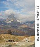 matterhorn towering above the... | Shutterstock . vector #87469478