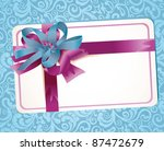 beautiful greeting card with...   Shutterstock .eps vector #87472679