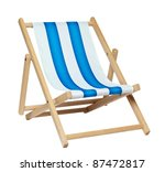 Traditional Deck Chair Isolate...