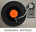 vintage record player with... | Shutterstock . vector #87476161