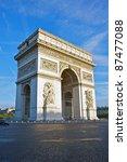 arc de triomphe in early... | Shutterstock . vector #87477088
