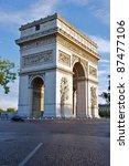 arc de triomphe in early... | Shutterstock . vector #87477106
