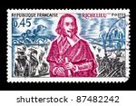 Small photo of FRANCE - CIRCA 1970: A stamp printed in France shows Armand Jean du Plessis, Duc de Richelieu, circa 1970.