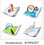 vector set of icons | Shutterstock .eps vector #87496207