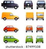 passenger cars  set  4 .  set... | Shutterstock .eps vector #87499108