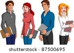 students | Shutterstock .eps vector #87500695