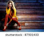 autumn woman | Shutterstock . vector #87501433