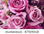 Stock photo rose posy wedding bouquet 87505018