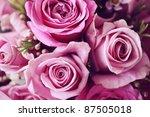 Stock photo rose posy wedding bouquet 87505018