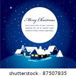 christmas card with night town... | Shutterstock .eps vector #87507835
