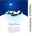 Christmas Card With Night Town...