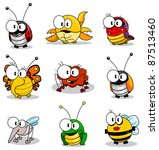 cartoon insects  raster... | Shutterstock . vector #87513460