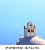 traditional church bell at Santorini, Greece - stock photo