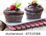 Fresh Chocolate Muffins With...