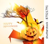 stylish halloween background... | Shutterstock .eps vector #87521791