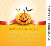 halloween pumpkin background... | Shutterstock .eps vector #87521812