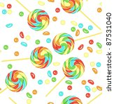 candy and lollipops on white... | Shutterstock . vector #87531040