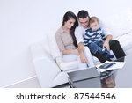 happy young family have fun and ... | Shutterstock . vector #87544546