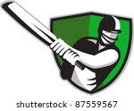 illustration of a cricket... | Shutterstock .eps vector #87559567