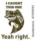 illustration of a largemouth... | Shutterstock . vector #87559591