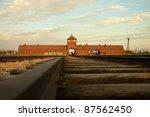 Entrance Of The Nazi Auschwitz...