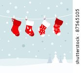 Christmas Stockings In Winter...
