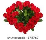 heart shaped red rose bouquet | Shutterstock . vector #875767