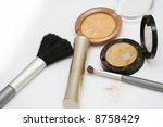 gold eyeshadows and brushes | Shutterstock . vector #8758429