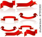 red glossy banners | Shutterstock . vector #87592303