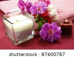 scented candles and beautiful... | Shutterstock . vector #87600787