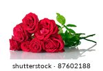 Stock photo beautiful bouquet of red roses isolated on white 87602188