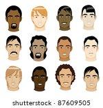 vector illustration of 12 men... | Shutterstock .eps vector #87609505