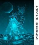 water dragon   Shutterstock .eps vector #87620875