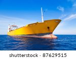 Anchor Cargo Yellow Boat In...