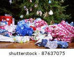 a mess of wrinkled wrapping... | Shutterstock . vector #87637075