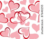 valentine seamless hearts... | Shutterstock .eps vector #87640255